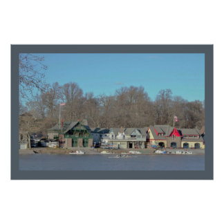 Boathouse Row Daylight Photo Poster