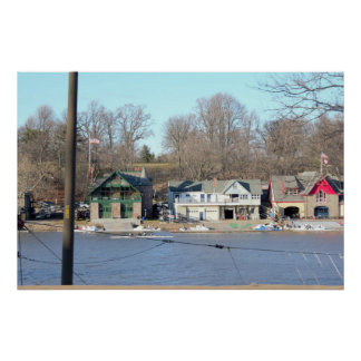 Boathouse Row Daytime Philadelphia Poster