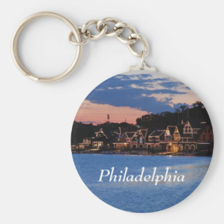 Boathouse Row dusk Key Ring