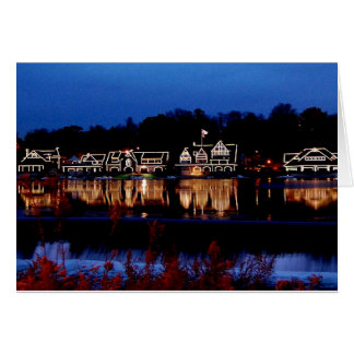 Boathouse Row Nightscape Note Cards