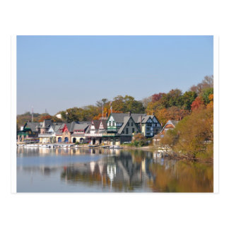 Boathouse Row Philadelphia Postcard