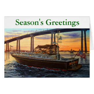 BOATING AT SUNSET,CORONADO BRIDGE CARD