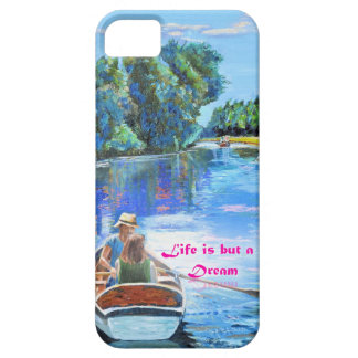 Boating couple on a mobile phone case barely there iPhone 5 case