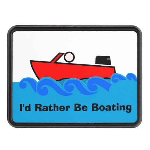 Boating Enthusiast Trailer Hitch cover