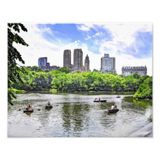 Boating in Central Park Photo Art