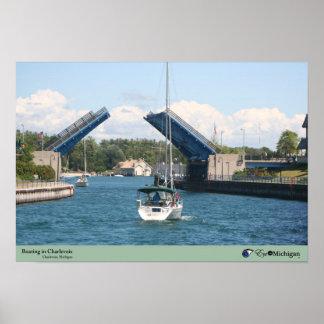 Boating in Charlevoix - Charlevoix, MI Poster
