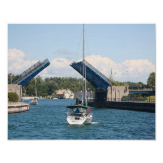 Boating in Charlevoix, Michigan Poster