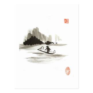 Boating Postcard