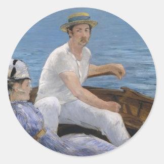 Boating Round Sticker