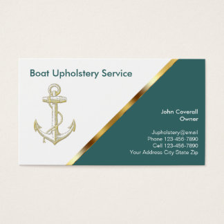 Boating Upholstery Business Cards