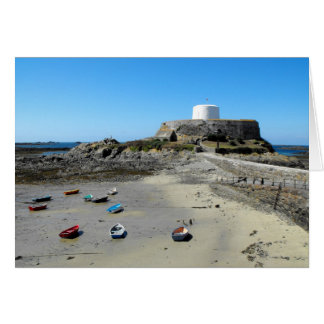 Boats and Fort Grey in Guernsey Card