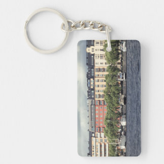 Boats and houses in Stockholm Key Ring