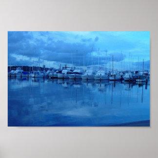 Boats And Reflections At Royal Perth Yacht Club Posters