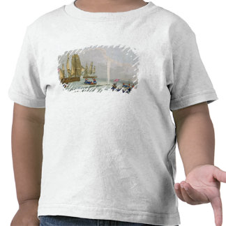 Boats Approaching a Whale, engraved by Matthew Dub T Shirts