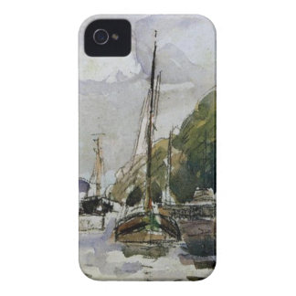 Boats at Dock by Camille Pissarro Case-Mate iPhone 4 Cases