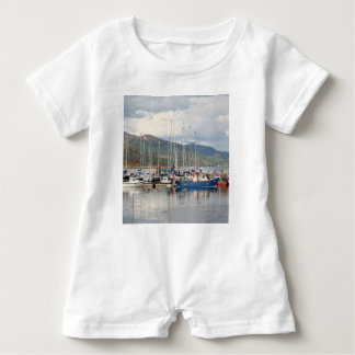 Boats at Kyleakin, Isle of Skye, Scotland Baby Bodysuit