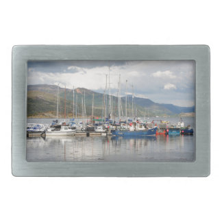Boats at Kyleakin, Isle of Skye, Scotland Belt Buckle