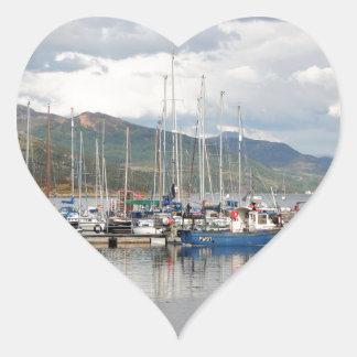 Boats at Kyleakin, Isle of Skye, Scotland Heart Sticker