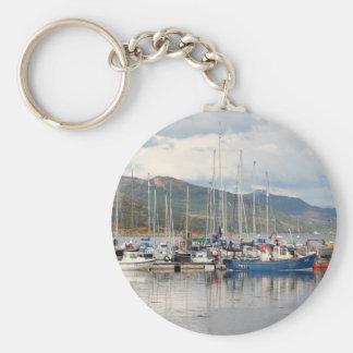Boats at Kyleakin, Isle of Skye, Scotland Key Ring