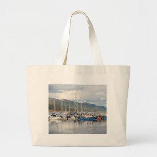 Boats at Kyleakin, Isle of Skye, Scotland Large Tote Bag