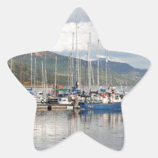 Boats at Kyleakin, Isle of Skye, Scotland Star Sticker