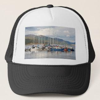 Boats at Kyleakin, Isle of Skye, Scotland Trucker Hat