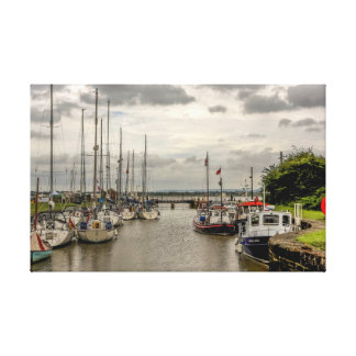 Boats at Lydney Harbour Canvas Print