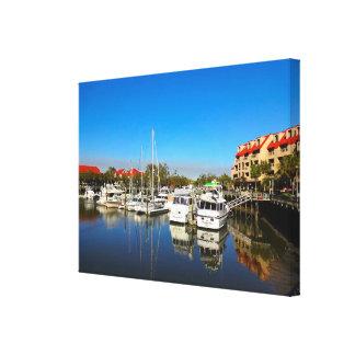 Boats at Shelter Cove Marina Hilton Head Island SC Canvas Print