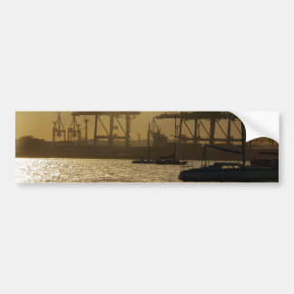 Boats At Sunset Car Bumper Sticker
