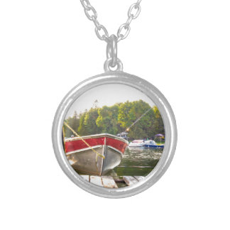 Boats at the Harbour Silver Plated Necklace