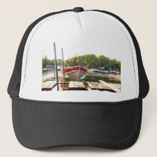 Boats at the Harbour Trucker Hat