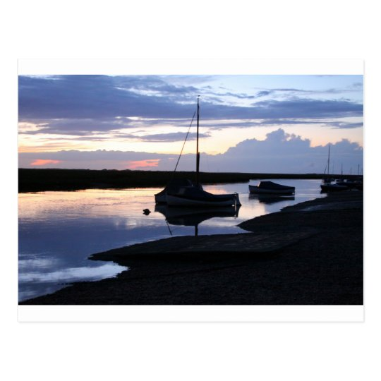 Boats Blakeney at dusk Postcard