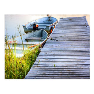 Boats by the Dock Postcard