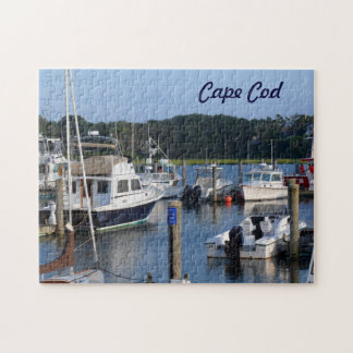 Boats in a Cape Cod Harbor Jigsaw Puzzle
