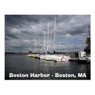Boats in Boston Harbor Postcard