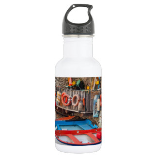 Boats in Cinque Terre Italy 532 Ml Water Bottle
