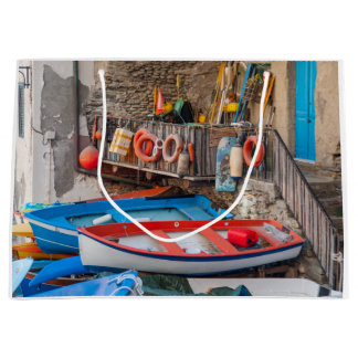 Boats in Cinque Terre Italy Large Gift Bag