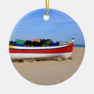 Boats in costa del Sol Ceramic Ornament