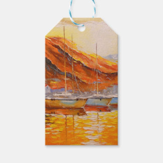 Boats in Harbor Gift Tags