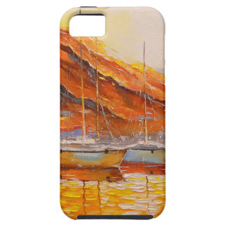 Boats in Harbor iPhone 5 Case
