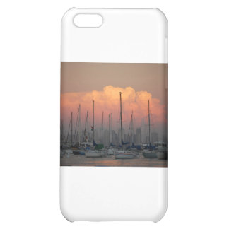 Boats in harbor iPhone 5C case