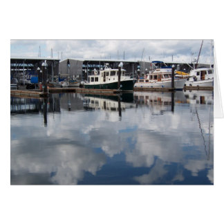 Boats in Harbor notecards Card