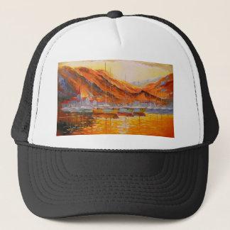 Boats in Harbor Trucker Hat