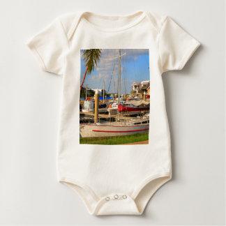 Boats in marina, Darwin, Australia Baby Bodysuit