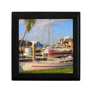 Boats in marina, Darwin, Australia Gift Box