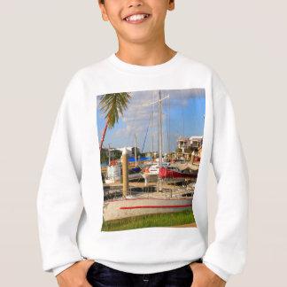 Boats in marina, Darwin, Australia Sweatshirt