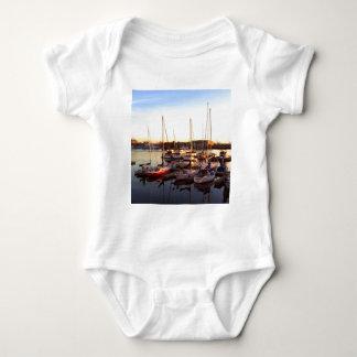Boats in Marina in Oakland, CA Baby Bodysuit