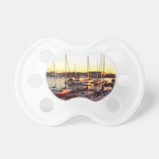 Boats in Marina in Oakland, CA Baby Pacifier