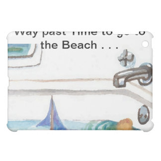 Boats in the Bathtub Past Time to go to the Beach iPad Mini Cases