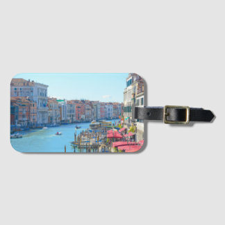 Boats in the Canals of Venice Italy Luggage Tag